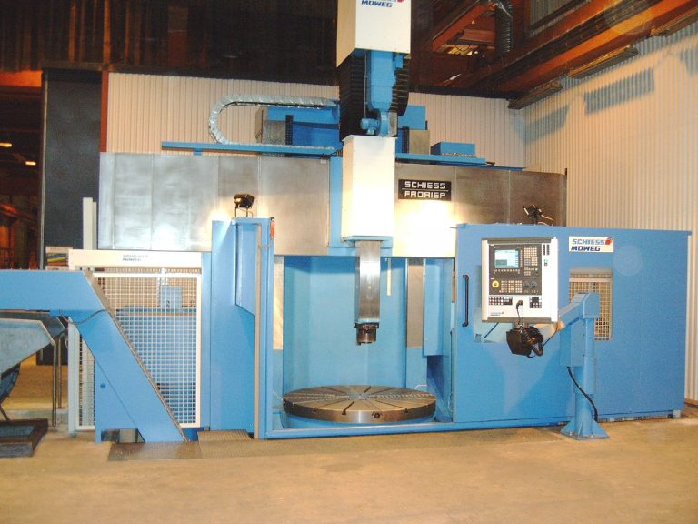 CNC Karusselldrehmaschine SCHIESS-20-DSC-160-bei der Abnahme in Schweden