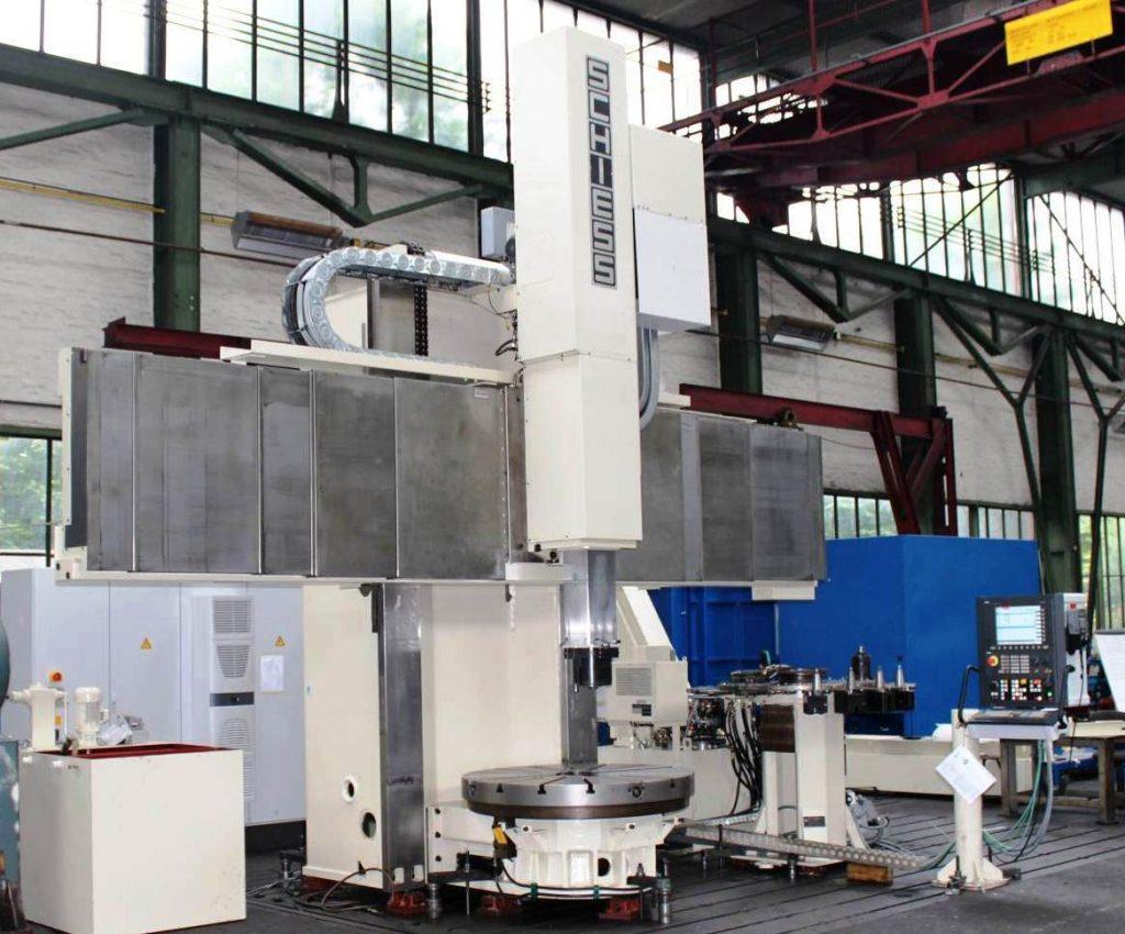 CNC Karusselldrehmaschine SCHIESS 16 DSC während der Überholung in der Werkshalle von Schiess Moweg GmbH Abnahme