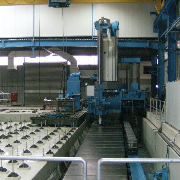 CNC-PLattenbohrwerk-SCHIESS-1-FB-180-während-der-Montage-beim-Kunden