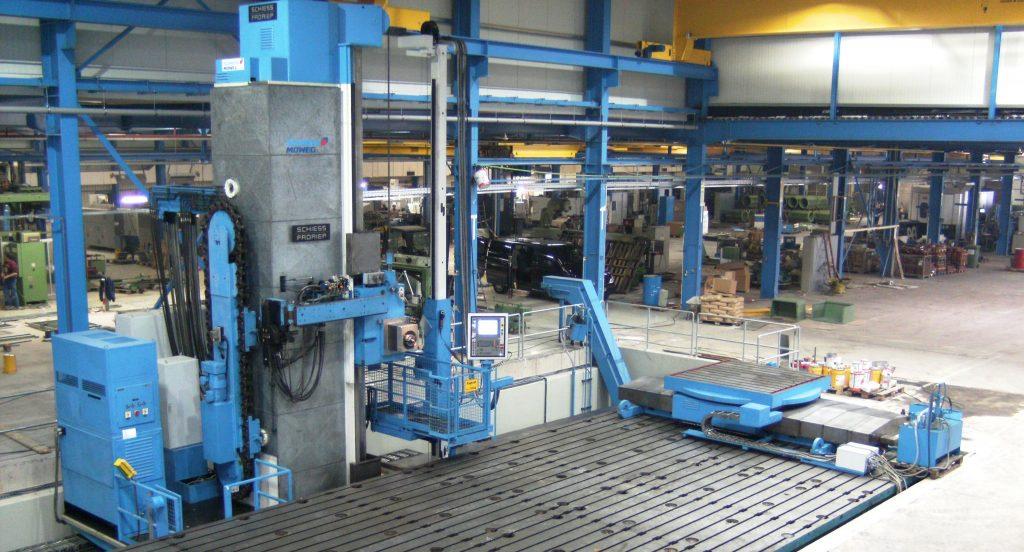 CNC-Plattenbohrwerk-SCHIESS-1-FB-180-Abnahme-beim-Kunden