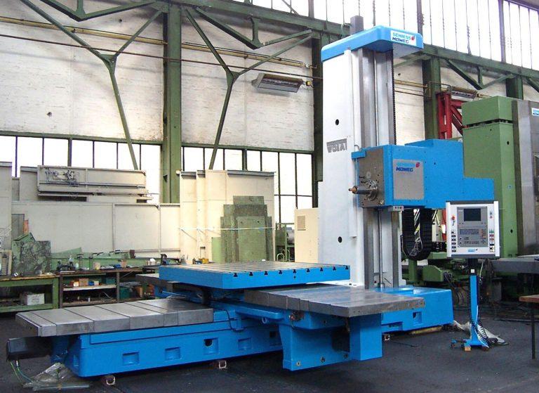 CNC Tischbohrwerk WOTAN B 130 T mit HEIDENHAIN TNC 426 bei der Abnahme im Hause Schiess Moweg GmbH