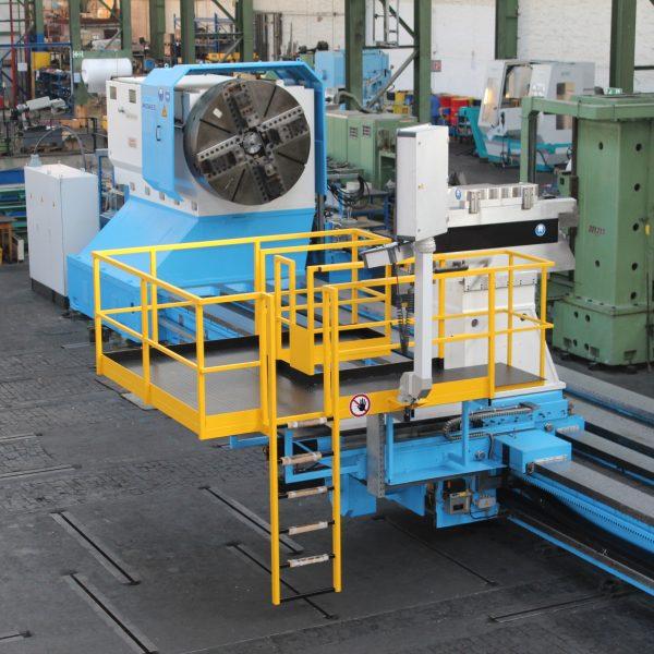 CNC-Schwerdrehmaschine-KRAMATORSK-während-der-Überholung-im-Lager-Schiess-Moweg-Abnahme-1